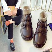 中大尺碼娃娃鞋 軟妹女小皮鞋復古日系學院風圓頭學生韓版百搭單鞋 DR11284【Rose中大尺碼】