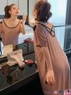 熱賣睡裙 莫代爾睡裙女夏可愛短袖薄款夏季寬鬆簡約性感露背可外穿美背睡衣 coco