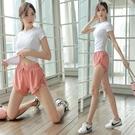 運動套裝 瑜伽服女夏天薄款健身服運動套裝速幹跑步服顯瘦上衣-Ballet朵朵