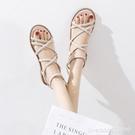 羅馬鞋 年夏季新款涼鞋女仙女風學生百搭平底一字帶極簡羅馬鞋ins潮 城市科技