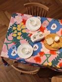 彩卉 桌布布藝棉麻小清新 美式數碼印花餐桌布茶幾桌布長方形蓋布
