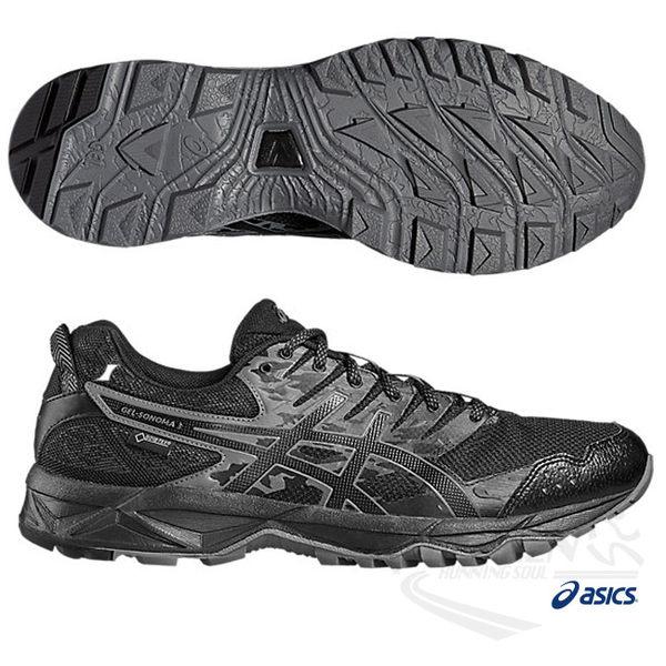 ASICS亞瑟士 男慢跑鞋 SONOMA3 G-TX (黑) 快速排汗與防水功能款 T727N-9099【 胖媛的店 】