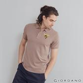 【GIORDANO】男裝麋鹿漸層刺繡短袖POLO衫 - 69 雪花雅棕