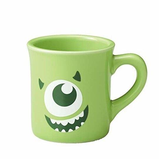 小禮堂 迪士尼 怪獸大學 大眼怪 陶瓷馬克杯 咖啡杯 陶瓷杯 290ml (綠 大臉) 4959079-28975