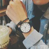 手錶 男生文藝復古手錶男初中女學生韓版簡約ulzzang 潮流休閒石英男錶 可卡衣櫃