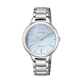 【Citizen星辰】L系列光動能時尚典雅氣質腕錶-海洋藍/EM0550-83N/台灣總代理公司貨享兩年保固