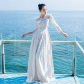長洋裝 波西米亞風-氣質唯美優雅蕾絲女連身裙2色73mw11【巴黎精品】