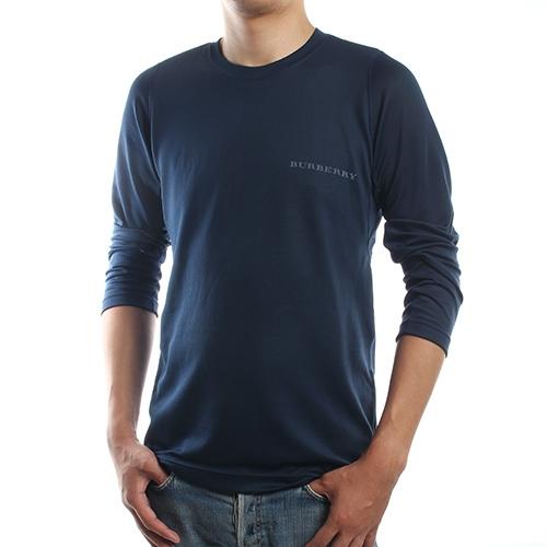 BURBERRY紳士透氣排汗休閒長袖上衣(深藍色)085206-4