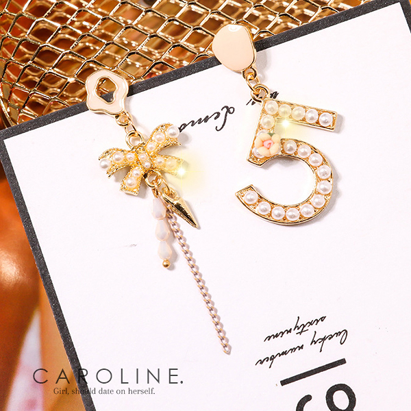《Caroline》★韓國熱賣造型時尚 高貴典雅設計耳環70794