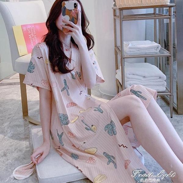 日式和服睡衣女夏天短袖睡袍韓版清新學生薄款夏季睡裙子浴袍夏天 果果輕時尚