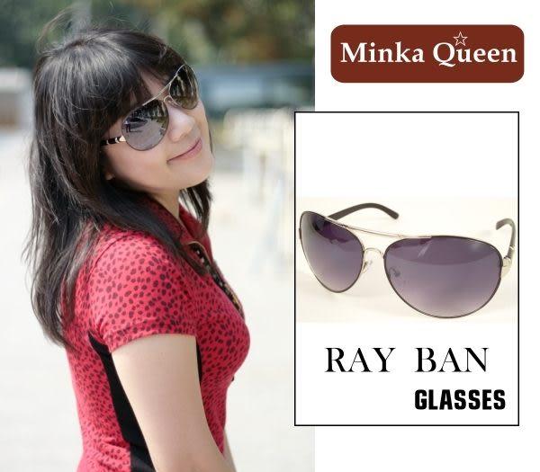 Minka Queen 黑色金屬框(抗UV400)時尚個性雷朋太陽眼鏡