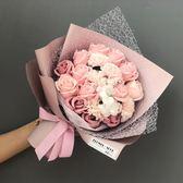 手捧玫瑰花香皂仿真花束母親節520生日禮物女生畢業網紅精致禮品 安妮塔小舖
