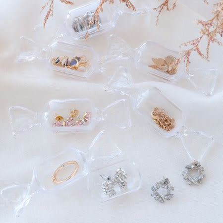 方形糖果造型收納盒 飾品收納盒 攜帶式 飾品盒 收納盒 旅行 外出 飾品 戒指 耳環 項鍊