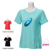 ASICS亞瑟士 女短袖T恤 (水藍) 大LOGO圖案 抗紫外線 142610-8121【 胖媛的店 】