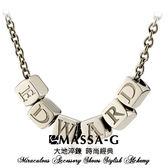字言字語 Alphabet 純鈦項鍊 (6字組) MASSA-G DECO系列