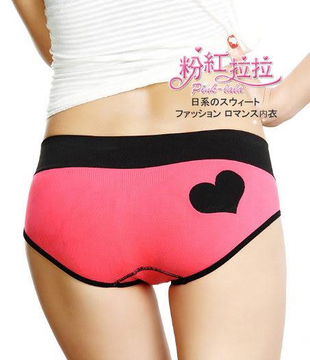 *╮粉紅拉拉【PB001】甜心女孩→繽紛色系‧愛心logo→萊卡舒適棉質三角小褲褲‧桃