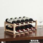 紅酒櫃創意紅酒架擺件家用實木架子餐廳酒櫃現代簡約葡萄酒架置物展示架 NMS陽光好物