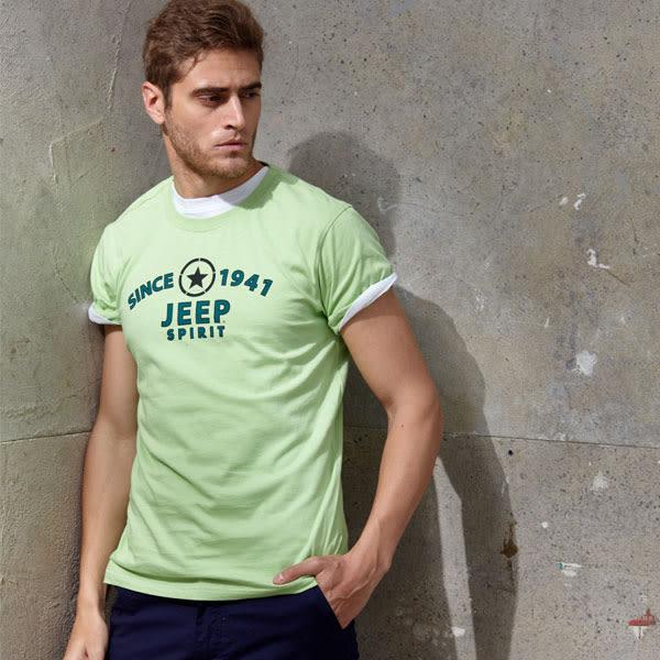 【JEEP】經典品牌T恤-嫩綠