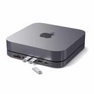 Satechi Type-C鋁製集線器 SD讀卡器 USB3.0 耳機插孔 兼容2020 & 2018 Mac Mini [2美國直購]
