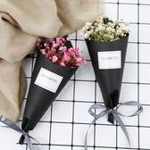 【BlueCat】彩色迷你滿天星乾燥花黑色紙筒 花束 拍照 擺拍 攝影道具 (禮盒裝)