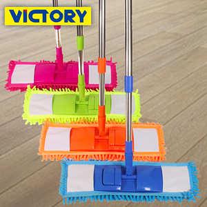 【VICTORY】雪尼爾強效平板拖(1拖2布)
