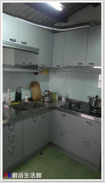 ❤PK廚浴生活館 實體店面❤高雄 廚房歐化系統櫥具 L型上下櫥白鐵檯面桶身流理台 美耐板