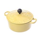 HOLA Pokémon寶可夢造型鑄鐵琺瑯湯鍋20cm-皮卡丘