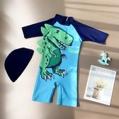 兒童泳衣-兒童男童寶寶嬰兒可愛韓國連體防曬防紫外線保暖溫泉游泳造型衣潮  多麗絲旗艦店