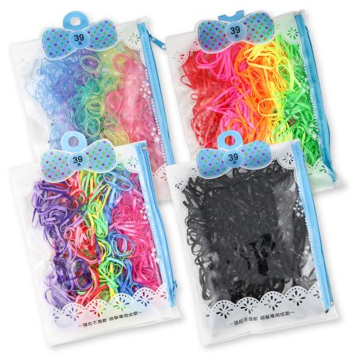 不易斷皮筋超值包 (1包) 拉鏈袋細皮筋【BG Shop】5款供選