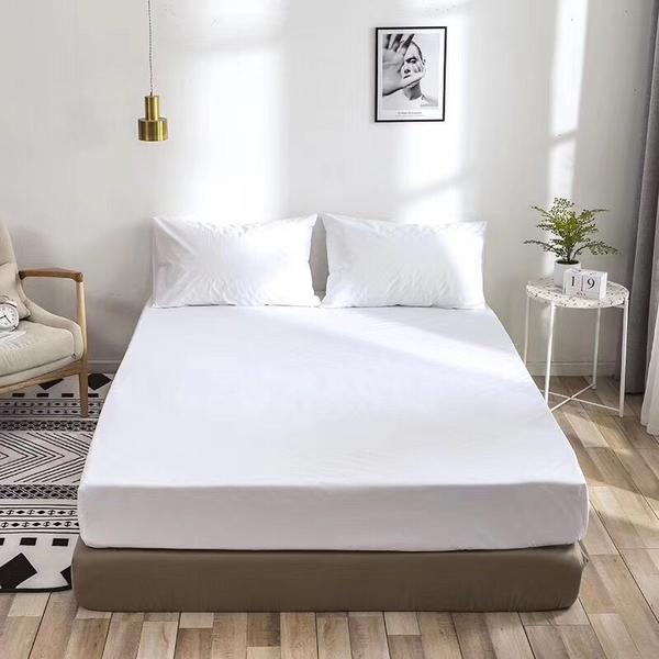 《單人》100%防水 吸濕排汗床包保潔墊(不含枕套) MIT台灣製造【白色】