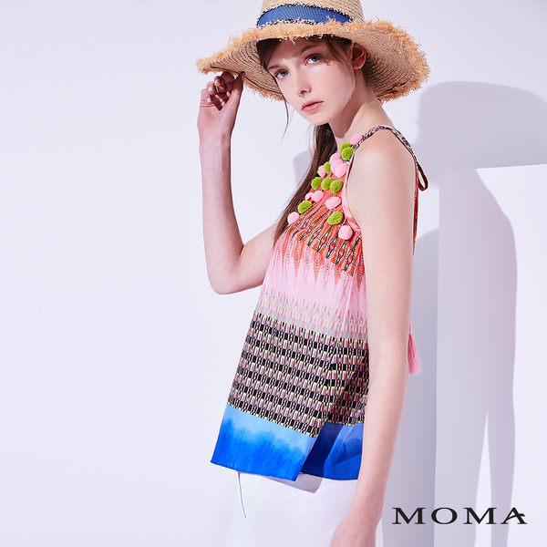 MOMA 渡假風削肩上衣