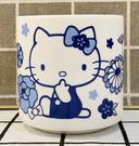 【震撼精品百貨】Hello Kitty 凱蒂貓~三麗鷗KITTY日本泡茶杯/茶杯-和風藍#55885