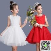 新款兒童公主裙幼兒園舞蹈演出蓬蓬紗裙男女童大合唱表演服裝 小天使