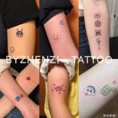 紋身貼 少女圖案情侶款 持久小圖案手指 ins紋身貼一套