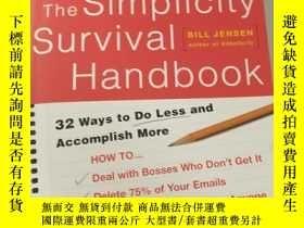 二手書博民逛書店英文原版罕見The Simplicity Survival Ha