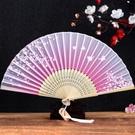 折扇 絲藝堂日式折扇中國風女式扇子絹扇櫻...