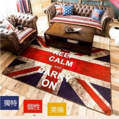 英倫風米字旗英國旗地毯(60*90cm)仿舊【藍星居家】