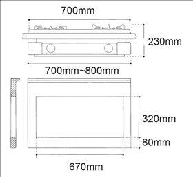 【歐雅系統家具廚具】豪山 HOSUN SK-2026S 歐化嵌入爐(已停產)-