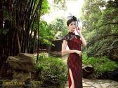 現代舞新款演出服中國風民族古典舞演出服裝高開叉扇子舞蹈旗袍父親節促銷