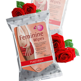 韓國 PUREDERM 玫瑰私密濕紙巾 15抽 私密處清潔 私密處 濕紙巾 除臭 抗菌 女性專用