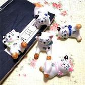 日式招財貓陶瓷筷子架壽司酒店餐廳筷枕家用卡通貓咪可愛筷架筷托