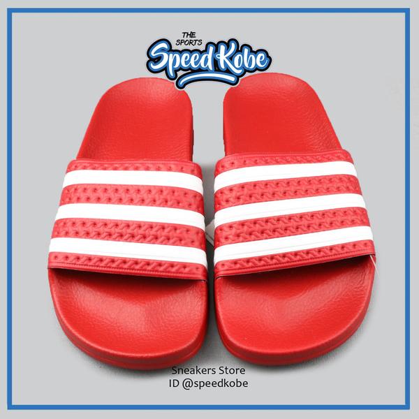 ADIDAS ADILETTE 運動拖鞋 紅白色 女尺寸 DURAMO # 288193 ☆SPEEDKOBE☆