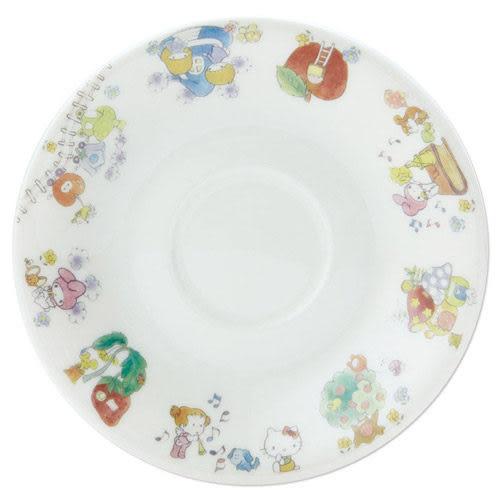 【震撼精品百貨】Hello Kitty 凱蒂貓~SANRIO繽紛包裝紙第二彈陶磁馬克杯&盤組(繽紛蘋果)