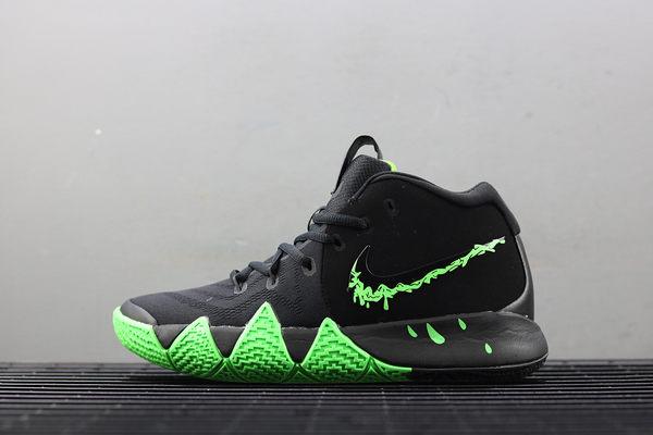 IMPACT Nike Kyrie 4 GS Halloween 黑 綠 籃球鞋 萬聖節限定 女鞋 AA2897-012