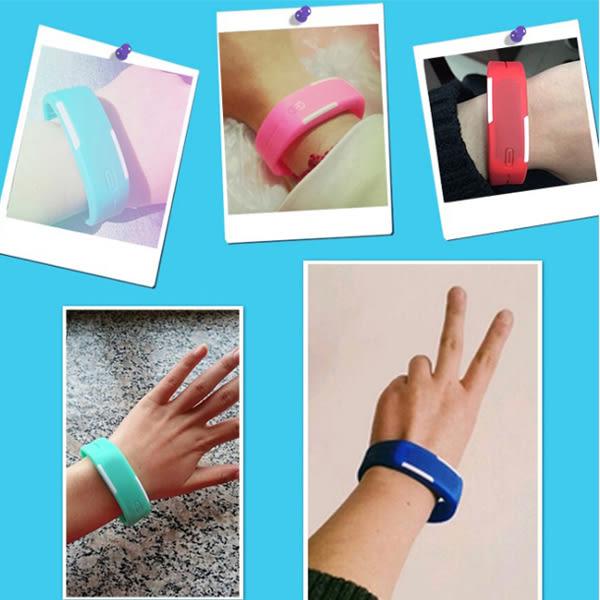 [24H 台灣現貨] LED發光 運動 手錶 手環 路跑 跑步 對錶 情侶錶 觸控手鐲 果凍錶
