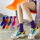 襪子襪子女中筒襪春秋季薄款彩色堆堆襪女ins潮網紅款街頭秋冬長筒襪易家樂小鋪