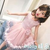 童裝2018夏裝新款女童連身裙韓版女中小童蕾絲公主裙無袖兒童紗裙
