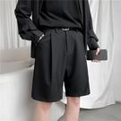 休閒短褲 夏季薄款純色小西短褲潮流百搭寬鬆直筒五分褲潮牌ins休閒褲男士