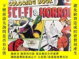 二手書博民逛書店classic罕見comic coloring book sci