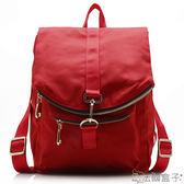 後背包-法國盒子.韓版造型多隔層後背包(共三色)16001